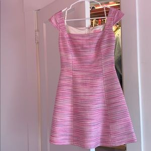 Lilly Pulitzer pink and purple tweed dress